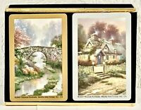 Vintage Congress Playing Cards Cottage Bridge Woods