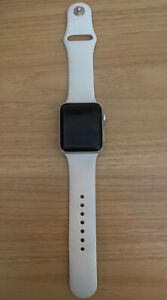 Apple Series 3 GPS 42mm Smartwatch - Silver Aluminum Case/White Sport Band