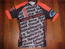 Nivo Varco Oilwell Team Black Gray Orange Men Cycling Bicycle Jersey Small