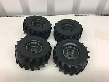 K New Bright 1/10 Grave Digger Monster Jam Tire & Wheel Set Only