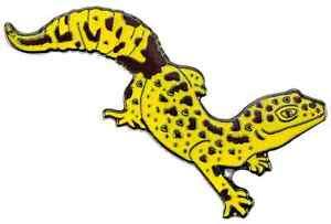 Pin Leopardgecko Geschenk Sammeln bluebug happyRoss