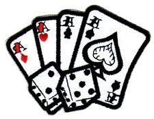 ag67 Würfel Karten Asse Casino Aufnäher Bügelbild Applikation Rockabilly Patch
