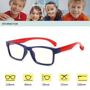 Kids Computer Glasses Cut Blue Light Blocking Filter Gaming Eyewear Anti Glare