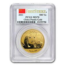2011 China 1 oz Gold Panda MS-70 PCGS (FS) - SKU #80226