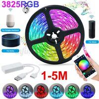 1-5M 5V USB RGB 2835 LED Strip Light Tuya APP WiFi Smart For Amazon Alexa Google