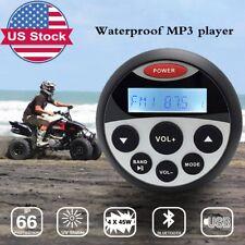 Waterproof Boat Stereo Marine AM FM Radio Motorcycle Audio Head Unit ATV Car MP3