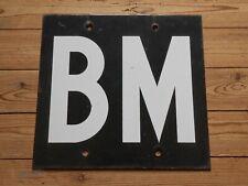 Vintage Enamel sign SNCF French Railways block manuel BM mechanical signals