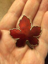 Argento Sterling MEKA Danese spilla vintage foglia rossa d'acero Canada 🇨 🇦 GUILLOCHE
