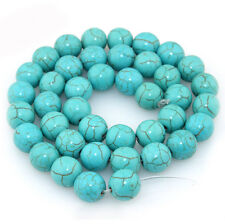 50Pc Natural Turquoise Round Gemstone Loose Spacer Beads Jewelry Finding DIY 6mm
