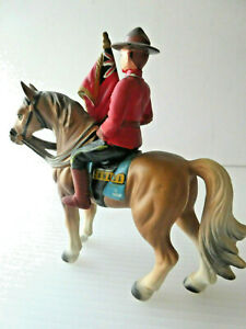 VTG Royal Canadian Mounted Police Man Officer on Horse Toy/ Figurine, NAD, JAPAN