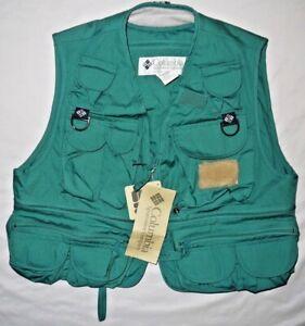 Mens BNWT Green COLUMBIA PFG Henry's Fork Fishing Vest size M $70
