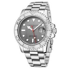 Stuhrling 3967 1 Aquadiver Cuarzo Fecha Pulsera de Acero Inoxidable Reloj De Hombre