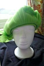 Vintage Mitzi Boutique of London 50s/60s Green Pleated Hat