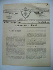1949 Leytonstone v Ilford 11th April Senior Cup Semi Final