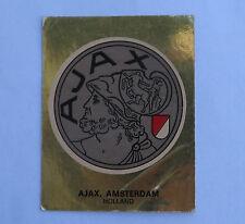 Panini Fussballsticker 1980  Ajax Amsterdam  Gold Wappen Fussballbild  selten