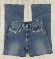 Christine Alexander Women's Size 8 Boot Cut Embellished Pockets