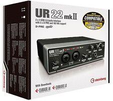 Steinberg UR22 MkII - Compact USB 2x2 Audio Interface + Cubase AI