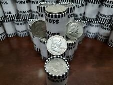 Ben Franklin 90% Silver Half Dollar + $10 Fv Unsearched Clad Bank Wrap Coin Roll