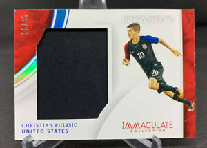 CHRISTIAN PULISIC 2017 PANINI Immaculate Soccer Relic 10/35 USA Jersey Number🔥