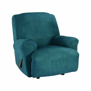 Sure Fit Ultimate Stretch Suede - Recliner Slipcover peacock new