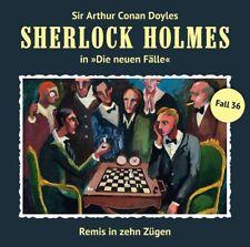 A. C. DOYLE - SHERLOCK HOLMES - REMIS IN ZEHN ZÜGEN (NEUE FÄLLE 36)   CD NEU