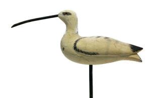 Heritage Mint Carved Wood CURLEW Bird Collectors Decorative Decoy
