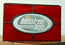 Backstreet Boys red stained glass box hinged mirror jewelry keepsake UNIQUE WOW!