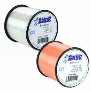 Ande Premium Pink Monofilament Fishing Line - 1/4 lb Spool - PP-14