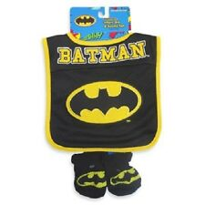Batman - Baby Bib and Booties Set - Baby Shower Gift - DC Comics - NEW