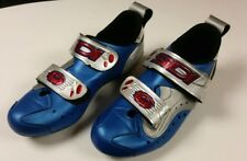 NIB Sidi T-1 Lady Blue/Grey Women's Triathlon Cycling Shoes 37.5 SPD, Look