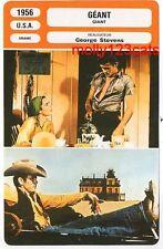 James Dean Elizabeth Taylor Rock Hudson movie Giant French Film Trade Card