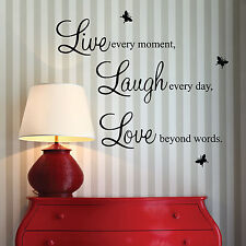 Live Laugh Love Vinyl Wall Quote Stickers, Wall Decals, Wall Art