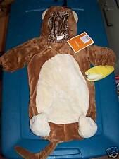 Infant Baby Size XS 0-9 Months Chimpanzee Monkey Halloween Costume Bunting New