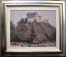 Ken Farrow original oil titled 'Edinburgh Castle'.