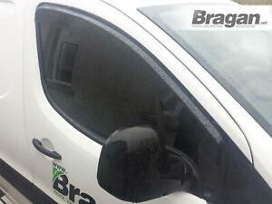 Window Deflectors For Peugeot Partner 16-19 Tinted Sun Protector Smoked Adhesive