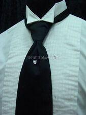 Black Old west Victorian Edwardian vintage style adjustable mens tie
