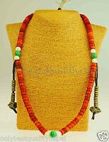 Mala Tibetische braun Gebets Kette Nepal Buddha Halskette Lama Yak Horn 30c