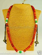 Tibetische Gebets Kette Mala Nepal Buddha Halskette Buddhismus Dorje Horn 30c