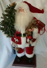 "Santa Claus Figure 26"" On Wooden Stand"