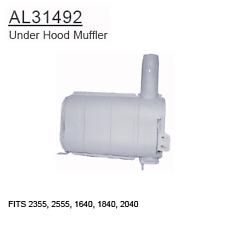 AL31492 John Deere Parts Under Hood Muffler 2355, 2555, 1640, 1840, 2040