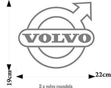Volvo truck roundels logo stickers (pair) good for glass or body