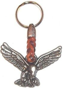 EAGLE Εngraved Metallic Keyring Keychain Goth Rock Merchandise
