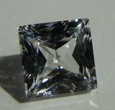 Princess 8x8 mm 3.1 ct VVS D Real White Sapphire Brilliant Solitaire Cut Stone