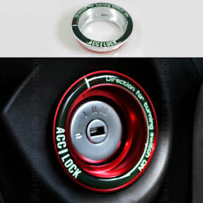 Alloy Ignition Key Ring Carbon Protector Switch trim Cover For Ford Escape Focus