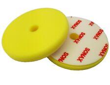 SONAX 143mm Exzenter-Polierschwamm gelb glatt mittel Polierpad polieren Lack Kfz