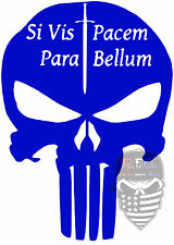 Punisher,Skull,Si Vis Pacem Para Bellum,Molon Labe,Dont Tread On Me,Vinyl Decal