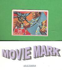 Topps 1966 BATMAN (Red Cowl) Original Card 6A Facing The Axe FREE Shipping Bonus