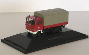 """Mercedes-Benz LP 608 """"Feuerwehr"""" - 1:87 / H0 Gauge - Schuco (22371)"""