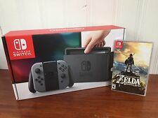 Nintendo Switch Gray Console Gray Joy-Con Zelda BoTW FREE EXPEDITED SHIPPING
