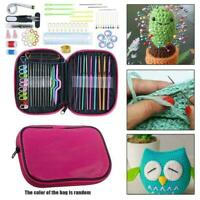 22/100pcs DIY Crochet Hook Set Needles Sewing Tools Accessories Knitting C5U2